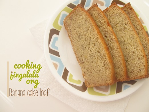 banana cake loaf - step by step pictures
