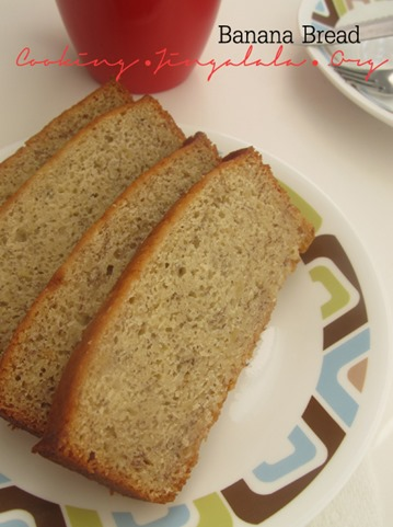 easy banana cake loaf recipe using over ripe bananas